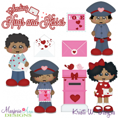 Love Letters-African American SVG Cutting Files Includes Clipart
