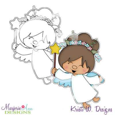 My Little Angel Digital Stamp + Clipart