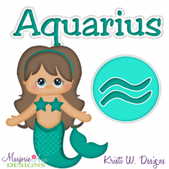 Zodiac Friends~Aquarius SVG Cutting Files + Clipart