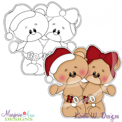 Christmas Bears Digital Stamp + Clipart