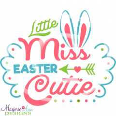 Easter Cutie Cutting Files-Includes Clipart