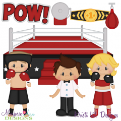 Boxing SVG Cutting Files Includes Clipart