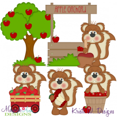 Apple Orchard Fun SVG Cutting Files Includes Clipart