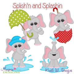 Splishin & Splashin Fun SVG Cutting Files + Clipart