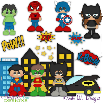 Little Hero's SVG Cutting Files + Clipart