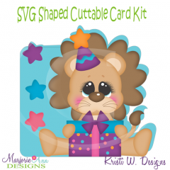 You're Such A Party Aminal~Lion~Shaped SVG/MTC Card Kit