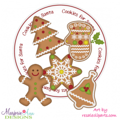 Cookies For Santa SVG Cutting Files Includes Clipart