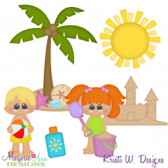 Beach Life SVG Cutting Files + Clipart