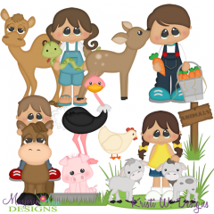 Petting Zoo SVG Cutting Files + Clipart