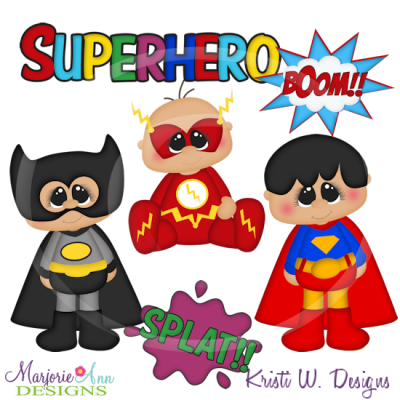 Super Chubbies Super Heros/Boys Cutting Files-Includes Clipart
