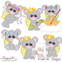 Toothfairy Mice SVG Cutting Files Includes Clipart