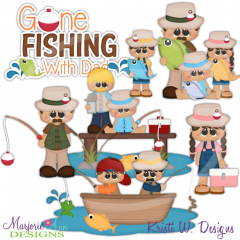 Fishing With Dad SVG Cutting Files Includes Clipart