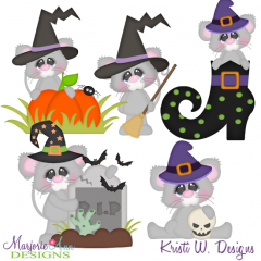 Witchy Mice Exclusive SVG Cutting Files + Clipart