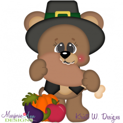 Thankful Bear SVG Cutting Files + Clipart