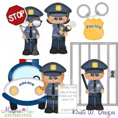When I Grow Up-Police Officer(2015) Cutting Files- Plus Clipart