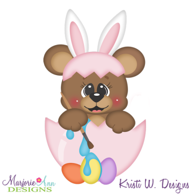 Easter Bear SVG Cutting Files Includes Clipart