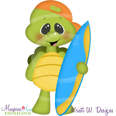 Beach Turtle SVG Cutting Files Includes Clipart - $0.35 ...