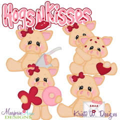 Hogs N Kisses SVG Cutting Files Includes Clipart