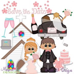 Wedding Day SVG Cutting Files + Clipart