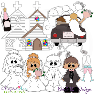 Going To The Chapel Digital Stamps + Clipart