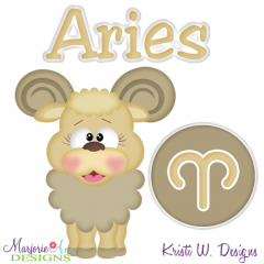 Zodiac Friends~Aries SVG Cutting Files + Clipart