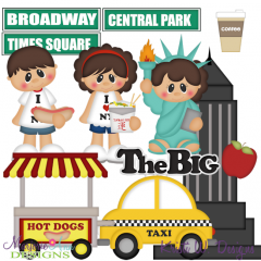 I Love New York SVG Cutting Files + Clipart