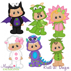 Chubbies Halloween Costumes SVG Cutting Files + Clipart