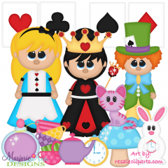 Wonderland Exclusive SVG Cutting Files + Clipart