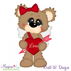 Cupid Bear SVG Cutting Files Includes Clipart