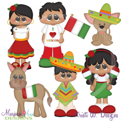 Kids Around The World-Mexico SVG Cutting Files Includes Clipart