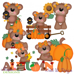 Betsy Loves Fall SVG Cutting Files + Clipart