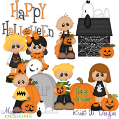 Spooky Village-Nutty Crew At The Patch SVG Cutting Files+Clipart