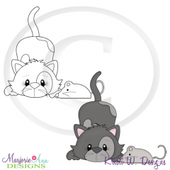Purrfect Life Kitty 1 Digital Stamp + Clipart