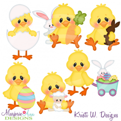 Easter Tweets Cutting Files-Includes Clipart