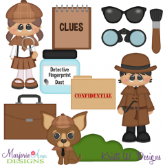 When I Grow Up~Detective Two SVG Cutting Files+Clipart