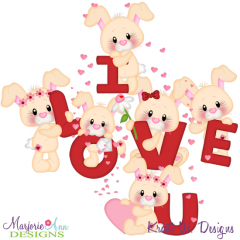 Some Bunny Loves You SVG Cutting Files Includes Clipart