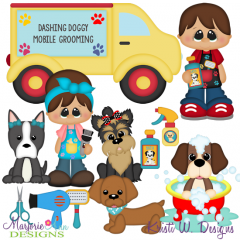When I Grow Up~Dog Groomer Cutting Files + Clipart