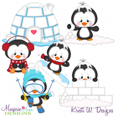 Winter Friends SVG Cutting Files Includes Clipart