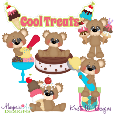 Cool Treats 2 SVG Cutting Files + Clipart