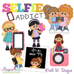 Selfie Addict SVG Cutting Files Includes Clipart