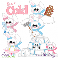 Snow Cold Bunnies SVG Cutting Files Includes Clipart