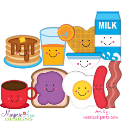 Breakfast Fun Exclusive SVG Cutting Files Includes Clipart