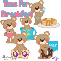 Brighton Bear-Time For Breakfast Exclusive SVG Cutting Files