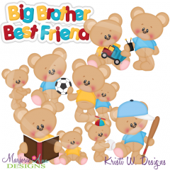 Big Brother Best Friend Exclusive Cutting Files + Clipart