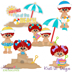 Beach Dolls SVG Cutting Files Includes Clipart