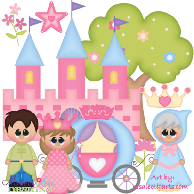 Pretty Princess EXCLUSIVE SVG Cutting Files Includes Clipart