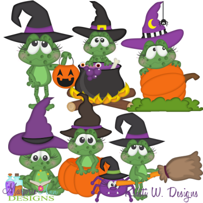 Halloween Frolics SVG Cutting Files Includes Clipart