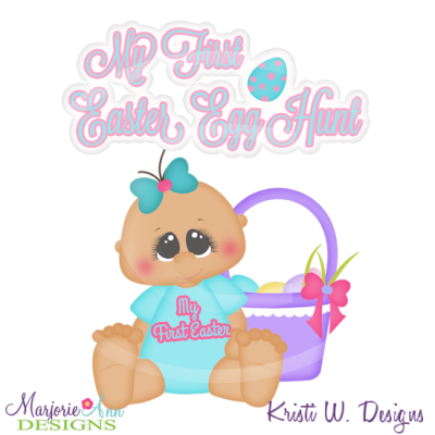 My First Easter Egg Hunt Cutting Files-Includes Clipart