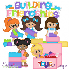 Building Friendships SVG Cutting Files Includes Clipart