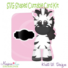Baby Zebra~Shaped SVG/MTC Card Kit/Cutting File